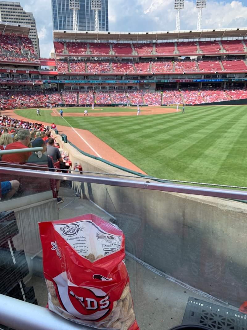 Vista sentada para Great American Ball Park Secção 139 Fila X Lugar 1