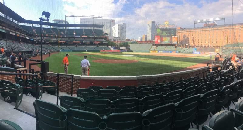 Vista sentada para Oriole Park at Camden Yards Secção 34 Fila 6 Lugar 11