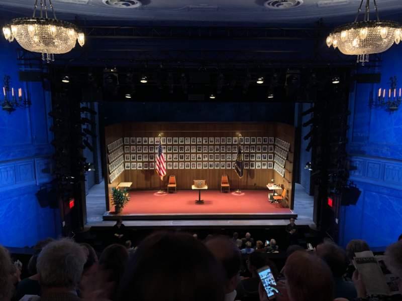 Vista sentada para Hayes Theater Secção Mezzanine C Fila E Lugar 105