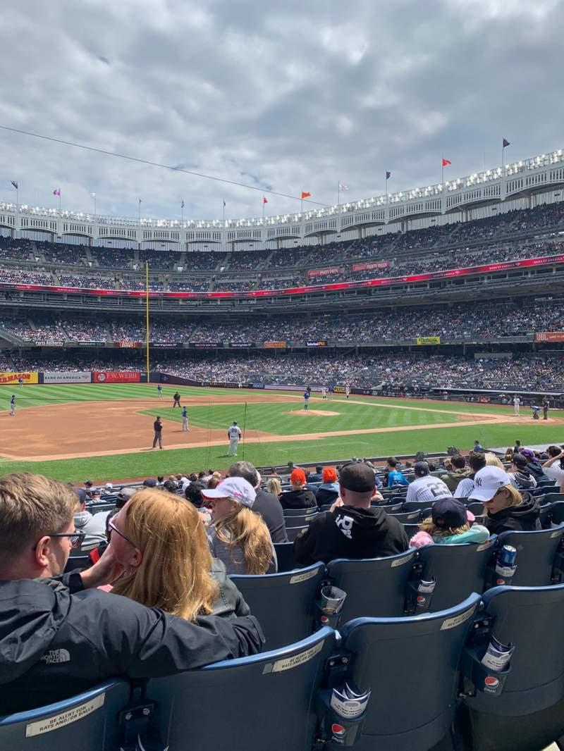Vista sentada para Yankee Stadium Secção 126 Fila 11 Lugar 14