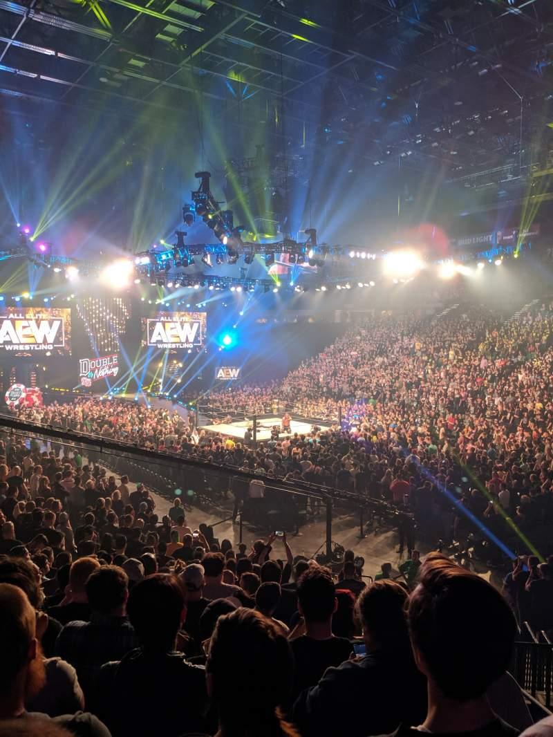 Vista sentada para T-Mobile Arena Secção 7 Fila S Lugar 2
