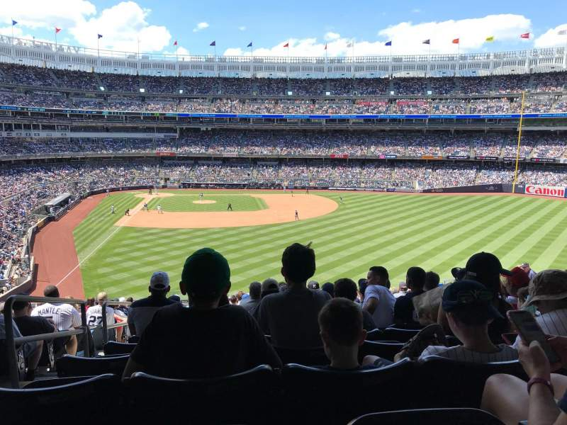 Vista sentada para Yankee Stadium Secção 205 Fila 19 Lugar 31
