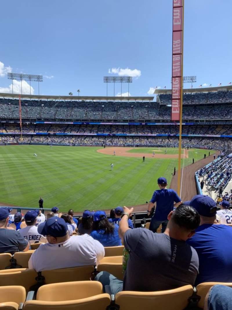 Vista sentada para Dodger Stadium Secção 167LG Fila K  Lugar 4