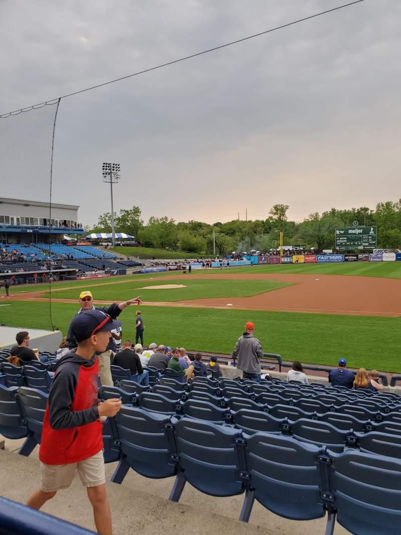 Vista sentada para Fifth Third Ballpark Secção 110 Fila 10 Lugar 13