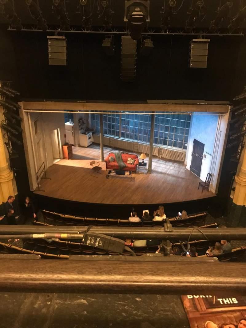 Vista sentada para Hudson Theatre Secção Balcony C Fila A Lugar 107
