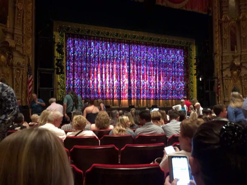 Vista sentada para Ohio Theatre (Columbus) Secção Orchestra 3 Fila L Lugar 123