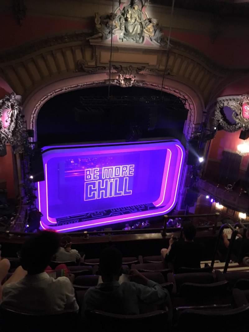 Vista sentada para Lyceum Theatre (Broadway) Secção Balcony L Fila F Lugar 13