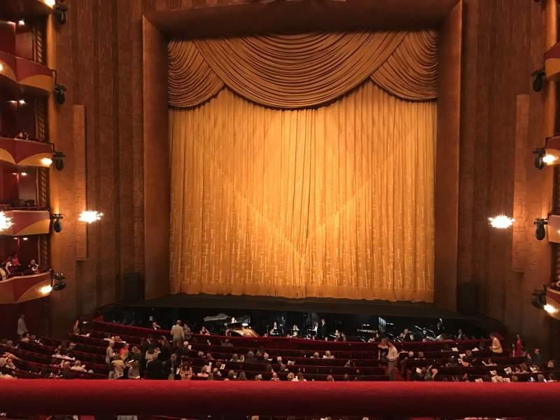Vista sentada para Metropolitan Opera House - Lincoln Center Secção Grand Tier Fila A Lugar 110