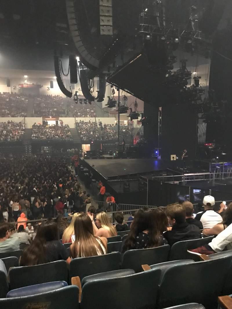 Vista sentada para Pechanga Arena Secção L11 Fila 7 Lugar 10