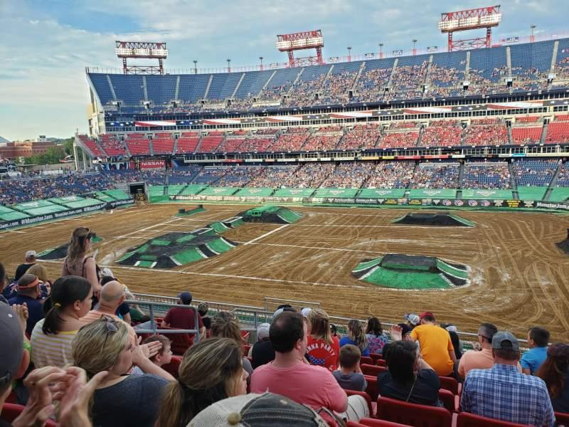 Vista sentada para Nissan stadium  Secção 232 Fila K Lugar 17