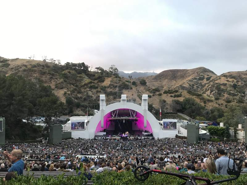Vista sentada para Hollywood Bowl Secção S Fila 2 Lugar 114
