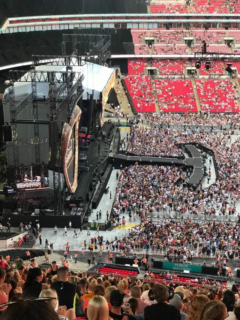 Vista sentada para Wembley Stadium Secção 529 Fila 41 Lugar 83
