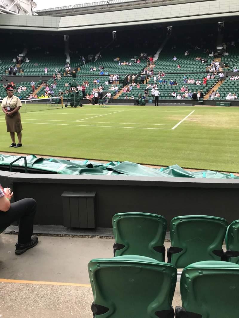 Vista sentada para Wimbledon, Centre Court Secção 111 Fila D Lugar 18