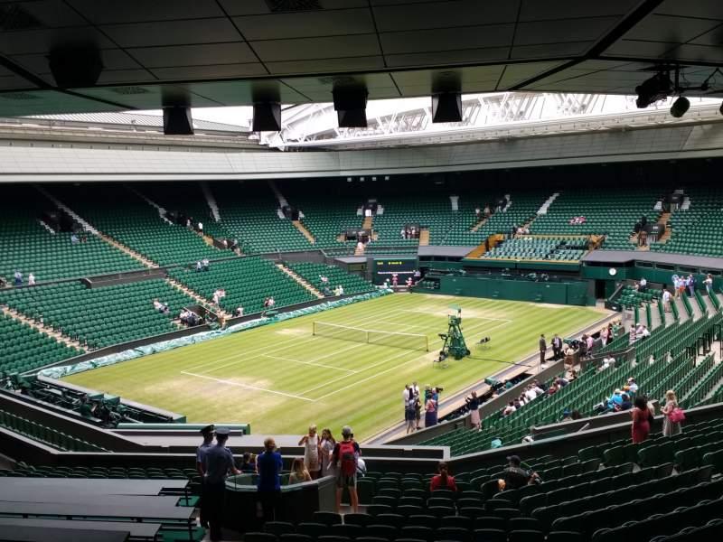 Vista sentada para Wimbledon, Centre Court Secção 308 Fila T Lugar 201