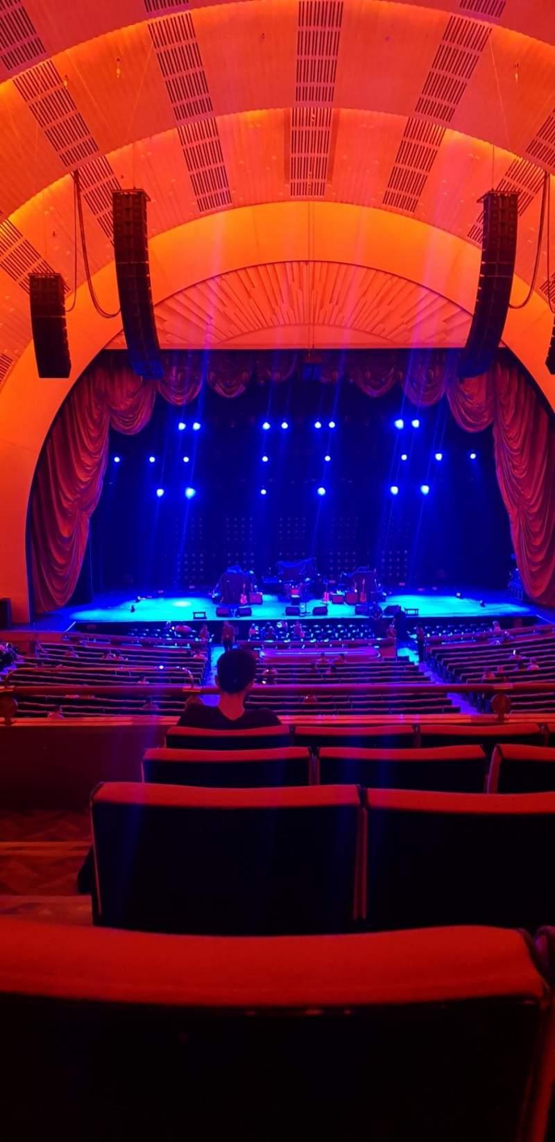 Vista sentada para Radio City Music Hall Secção 1st mezzanine 4 Fila E Lugar 413