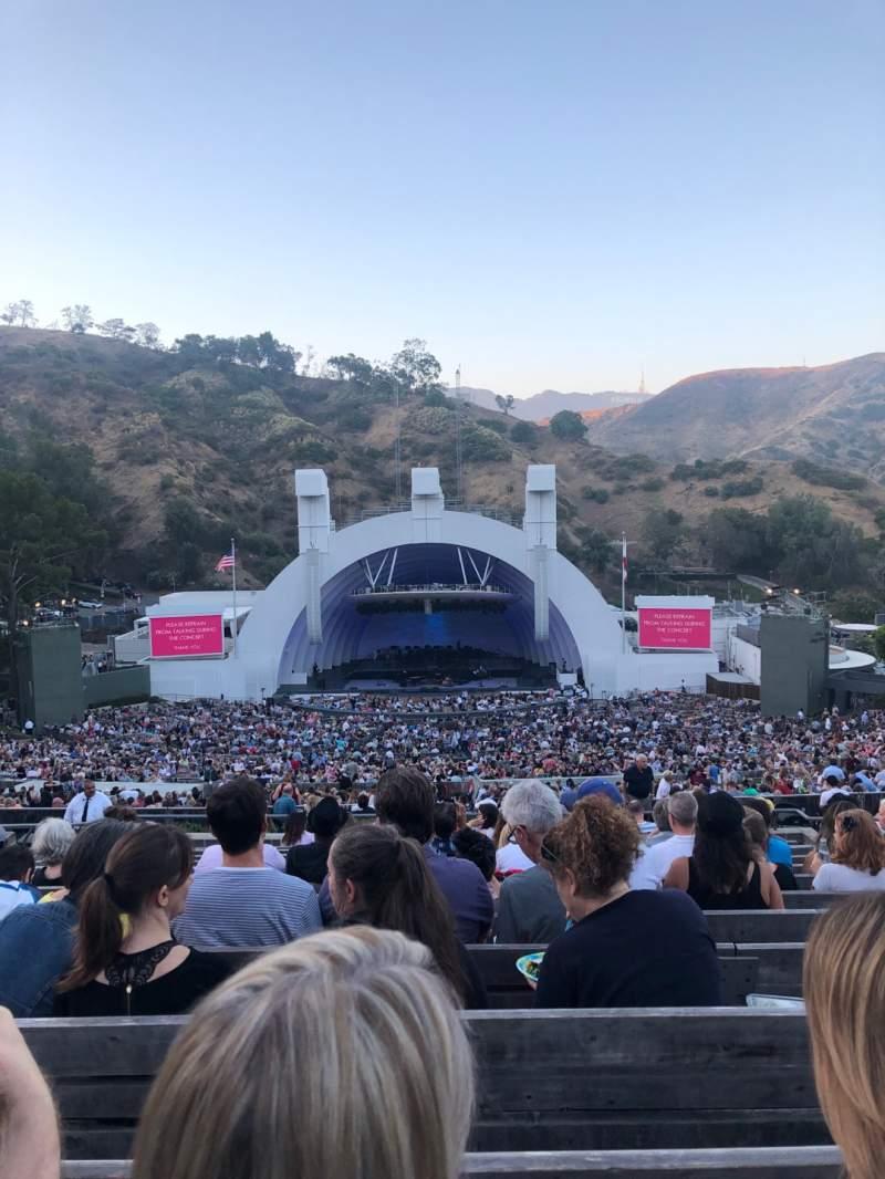 Vista sentada para Hollywood Bowl Secção M1 Fila 14 Lugar 23