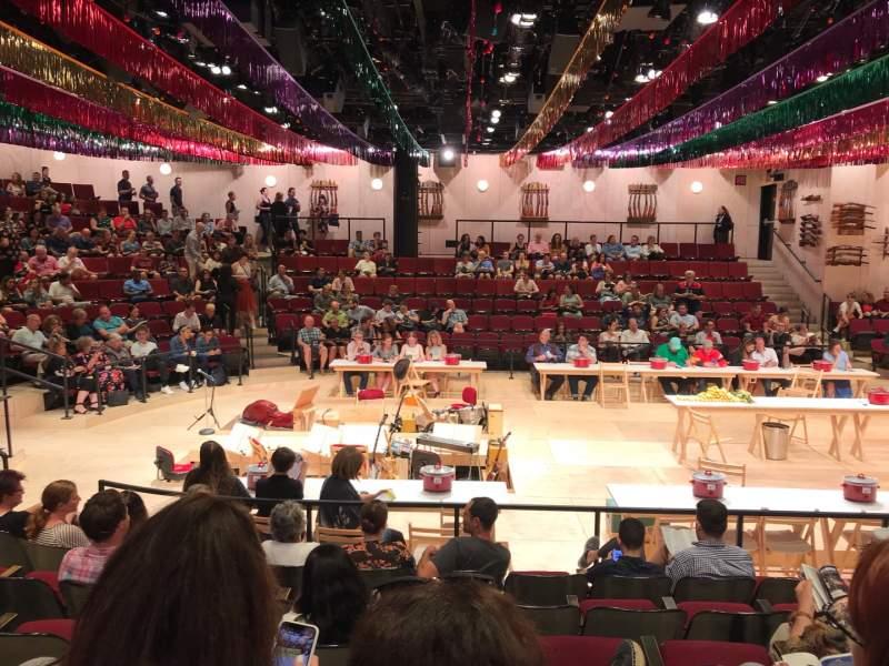 Vista sentada para Circle in the Square Theatre Secção Orchestra 200 (Even) Fila G Lugar 220