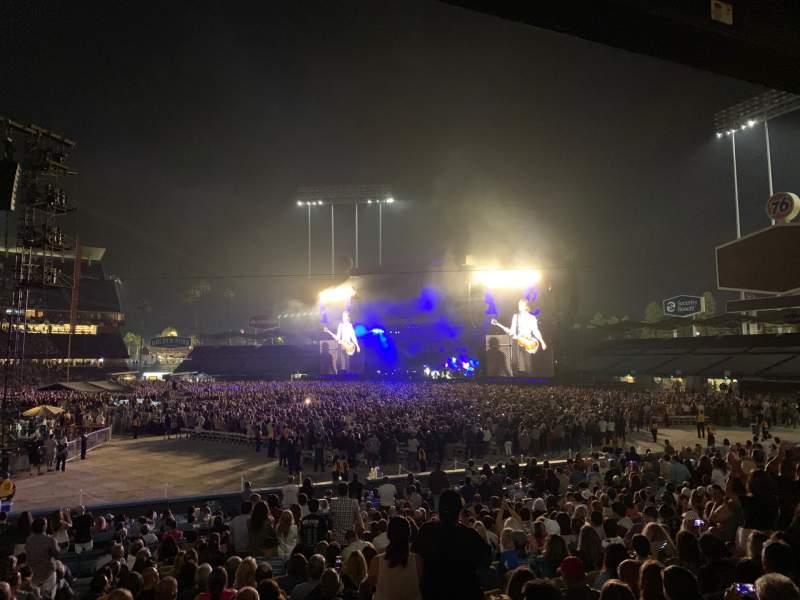 Vista sentada para Dodger Stadium Secção 22FD Fila U Lugar 1