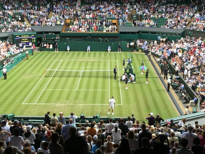 Vista sentada para Wimbledon, Centre Court Secção 510 Fila X Lugar 206