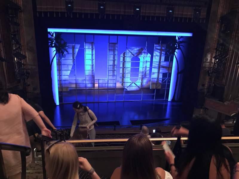 Vista sentada para Nederlander Theatre Secção Mezzanine C Fila J Lugar 115