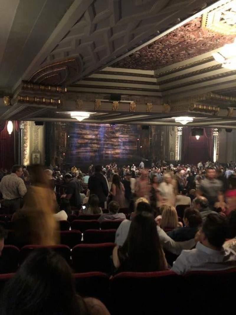 Vista sentada para Hollywood Pantages Theatre Secção Orchestra L Fila ZZ Lugar 13