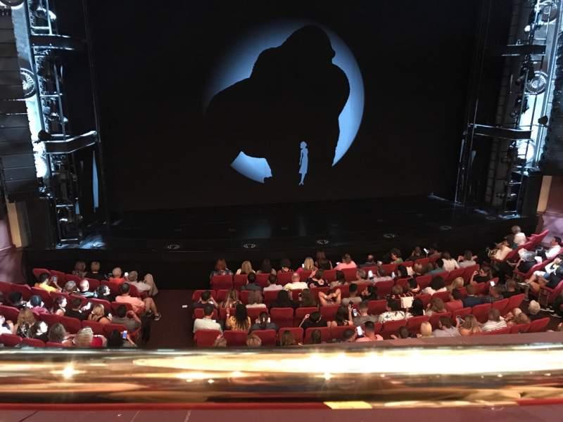 Vista sentada para Broadway Theatre - 53rd Street Secção Front Mezzanine LC Fila A Lugar 112