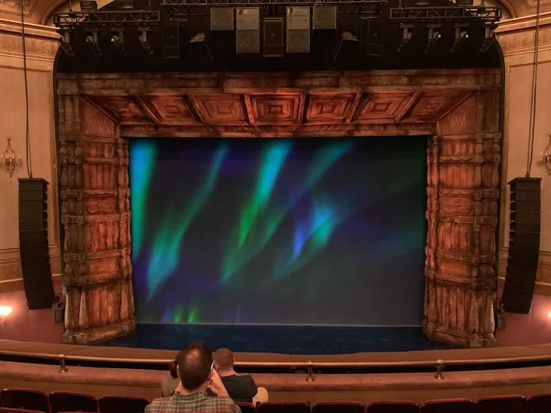 Vista sentada para St. James Theatre Secção Mezzanine C Fila F Lugar 107