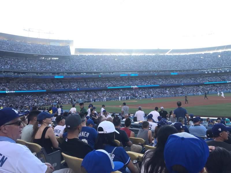 Vista sentada para Dodger Stadium Secção 34FD Fila F Lugar 6