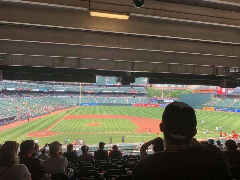 Vista sentada para Oriole Park at Camden Yards Secção 23 Fila 12 Lugar 17