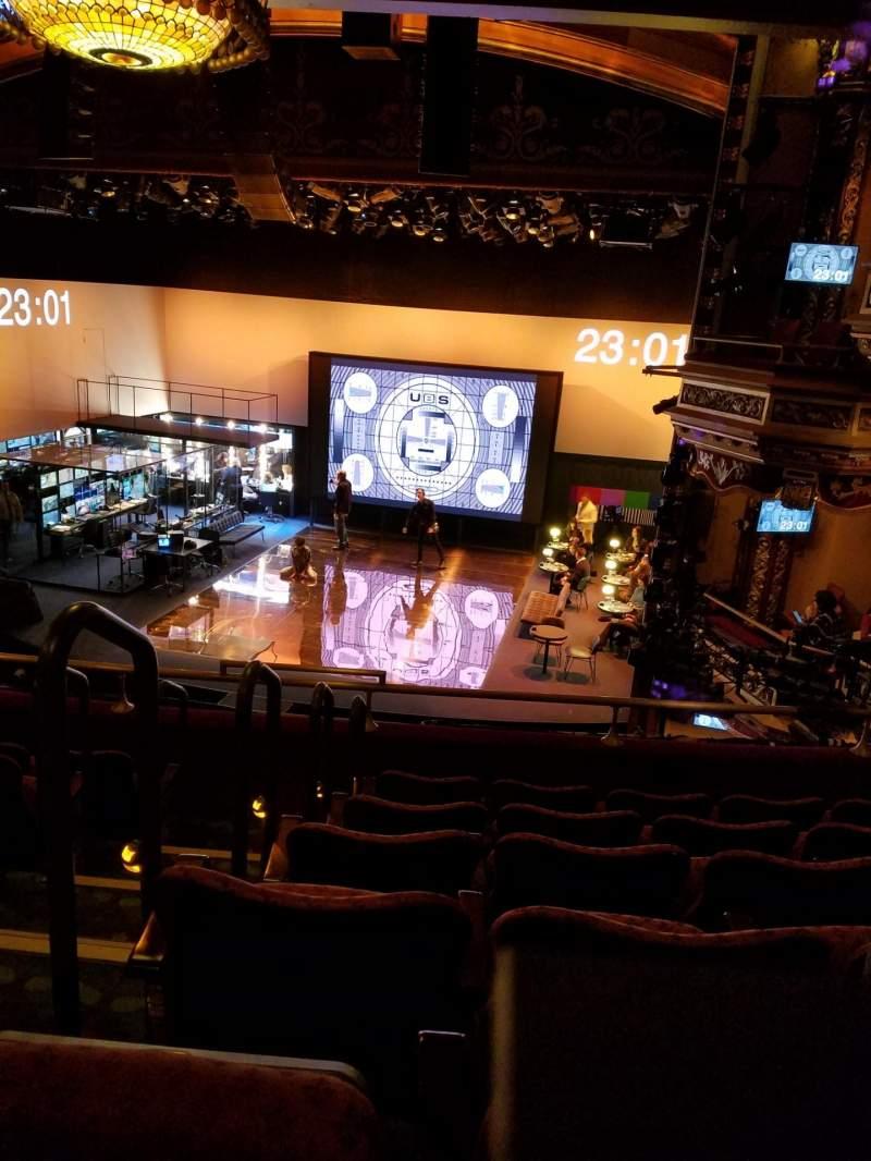 Vista sentada para Belasco Theatre Secção Mezzanine R Fila F Lugar 2-4