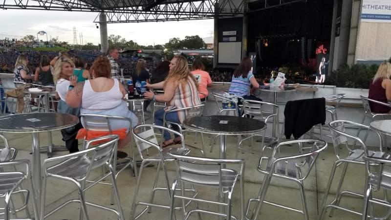 Vista sentada para MidFlorida Credit Union Amphitheatre Secção Party deck