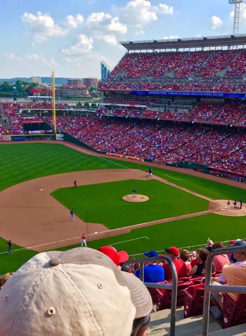 Vista sentada para Great American Ball Park Secção 415 Fila L Lugar 2