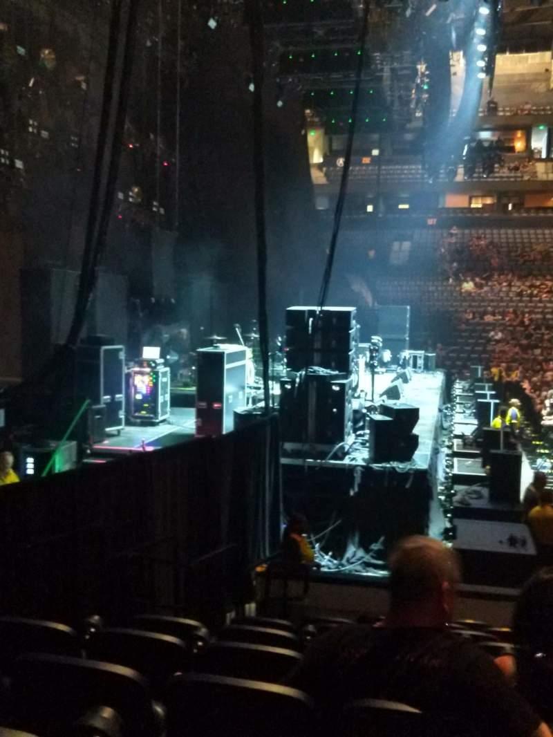 Vista sentada para Bridgestone Arena Secção 114 Fila KK Lugar 17