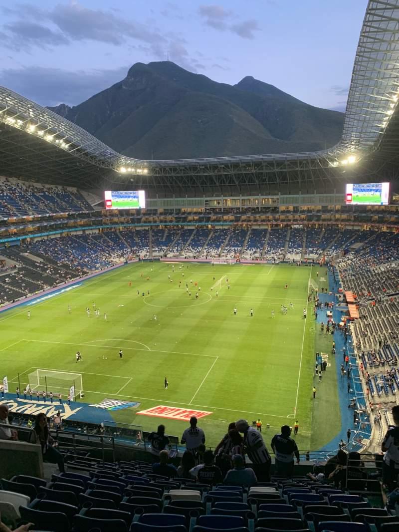 Vista sentada para Estadio BBVA Secção 223 Fila L Lugar 6
