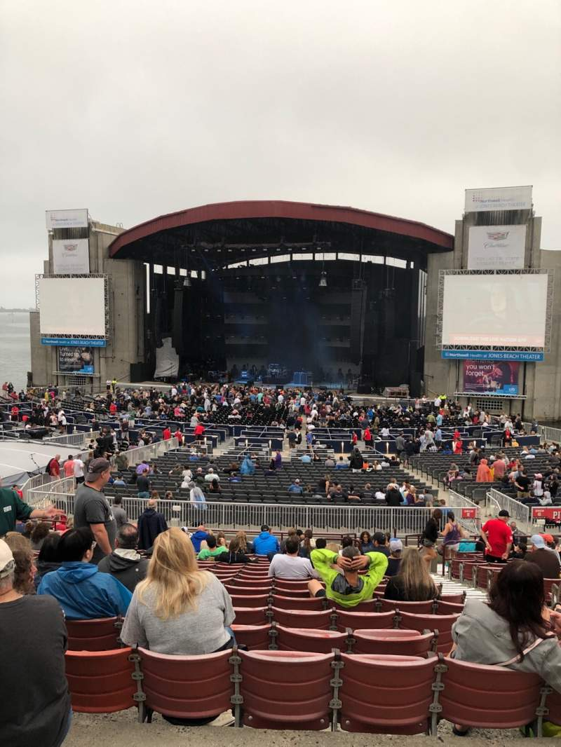 Vista sentada para Jones Beach Theater Secção 6R Fila AA