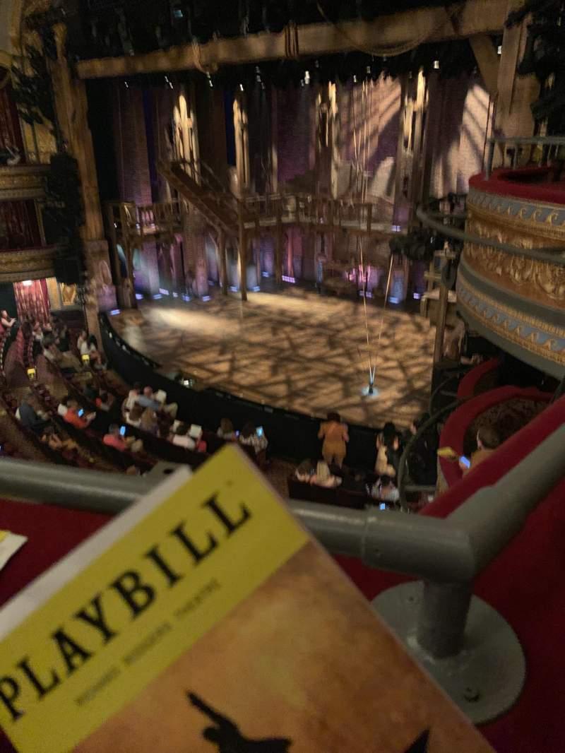 Vista sentada para Richard Rodgers Theatre Secção Front Mezzanine R Fila A Lugar 28