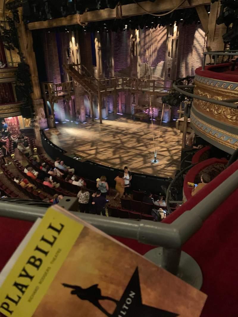 Vista sentada para Richard Rodgers Theatre Secção Front Mezzanine R Fila A Lugar 26
