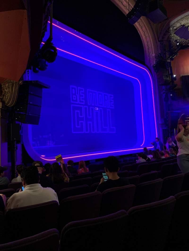 Vista sentada para Lyceum Theatre (Broadway) Secção Orchestra L Fila J Lugar 17