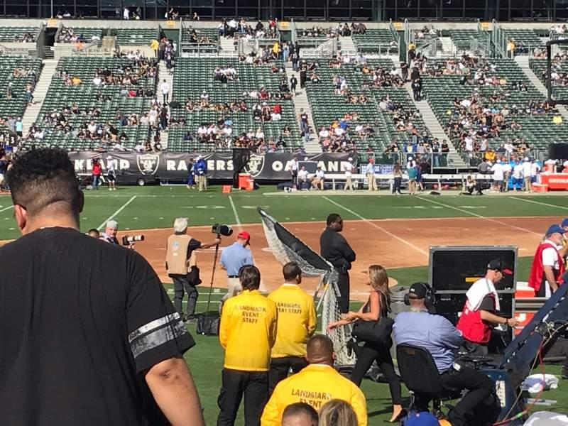 Vista sentada para Oakland Coliseum Secção 119 Fila 11 Lugar 15
