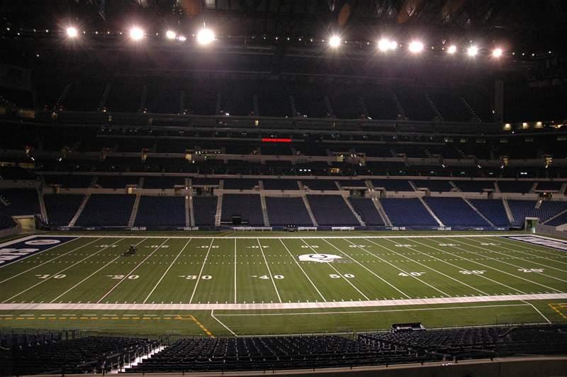 Vista sentada para Lucas Oil Stadium Secção 210 Fila 3 Lugar 7