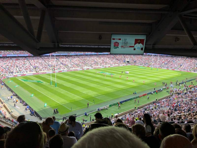 Vista sentada para Twickenham Stadium Secção M13 Fila 75 Lugar 364
