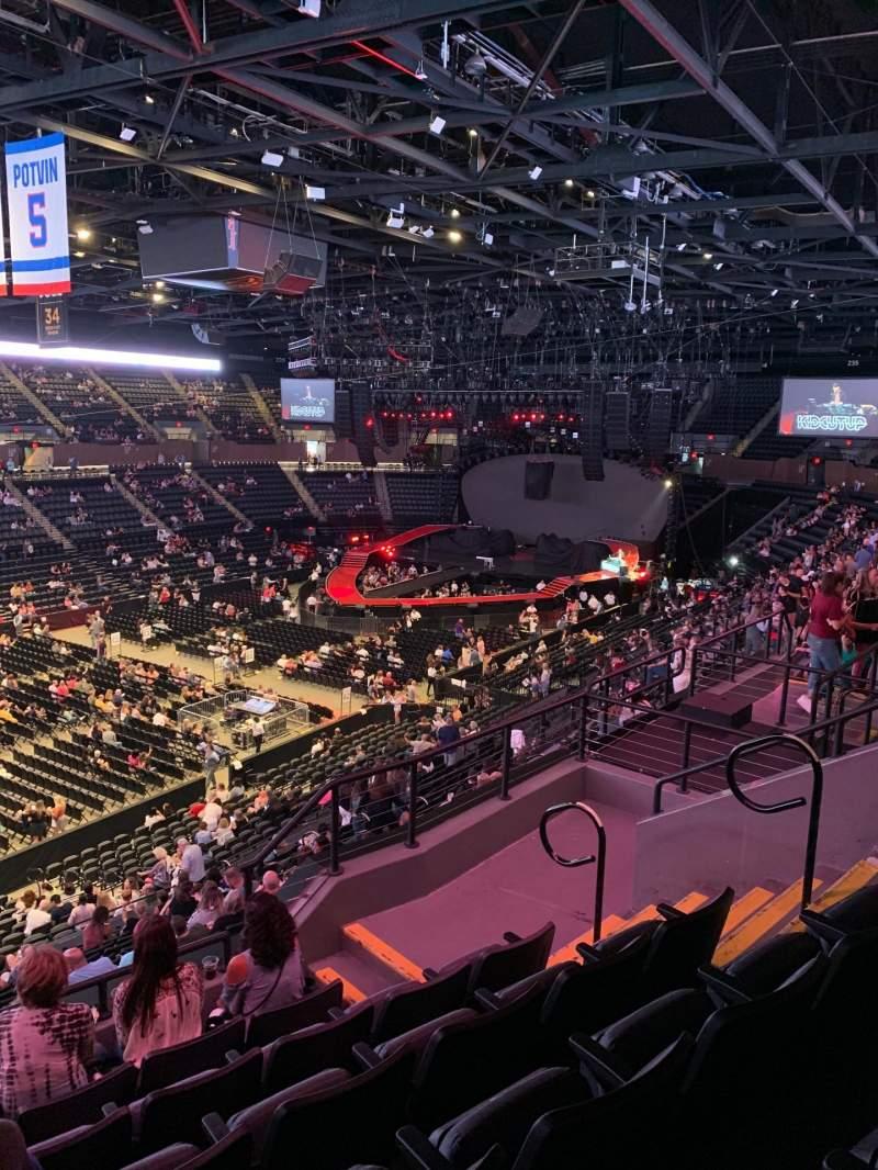 Vista sentada para Nassau Veterans Memorial Coliseum Secção 207 Fila 6 Lugar 7