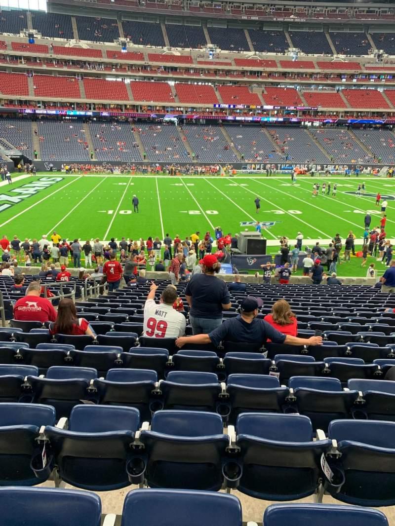 Vista sentada para NRG Stadium Secção 109 Fila W Lugar 17