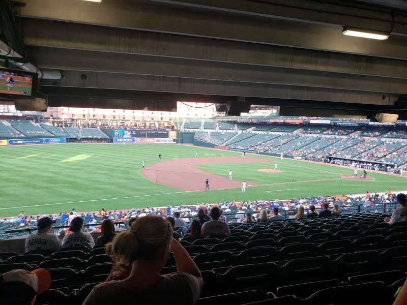 Vista sentada para Oriole Park at Camden Yards Secção 59 Fila 13 Lugar 21