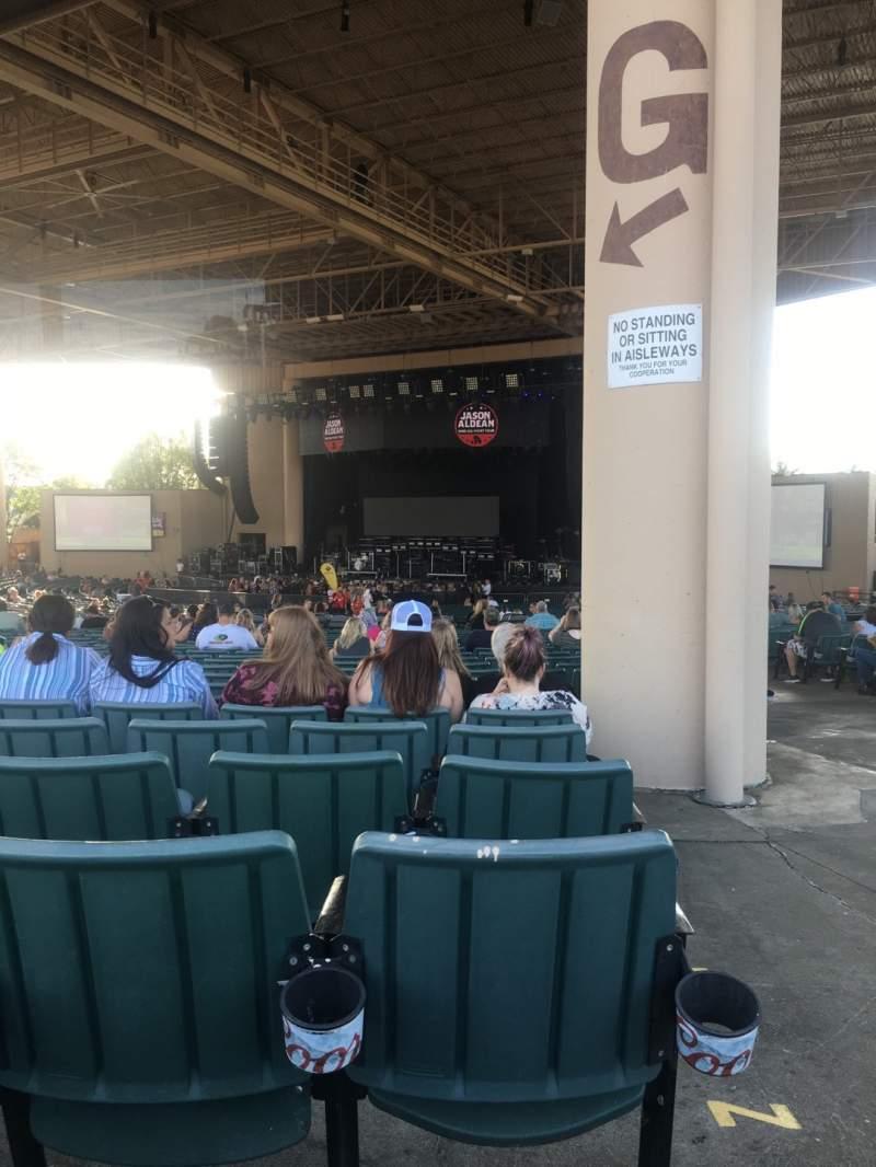 Vista sentada para Ruoff Home Mortgage Music Center Secção G Fila BB Lugar 33