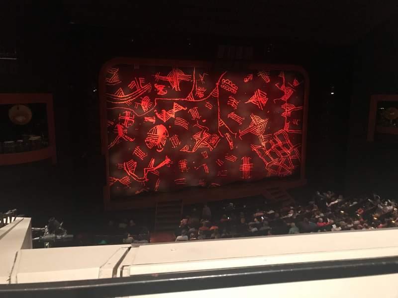 Vista sentada para Minskoff Theatre Secção Mezzanine Fila A Lugar 106