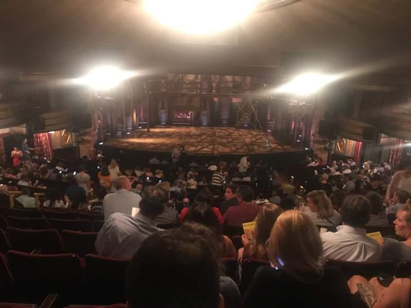 Vista sentada para Richard Rodgers Theatre Secção Orchestra C Fila V Lugar 106
