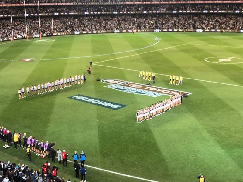 Vista sentada para Melbourne Cricket Ground Secção P43 Fila A Lugar 18