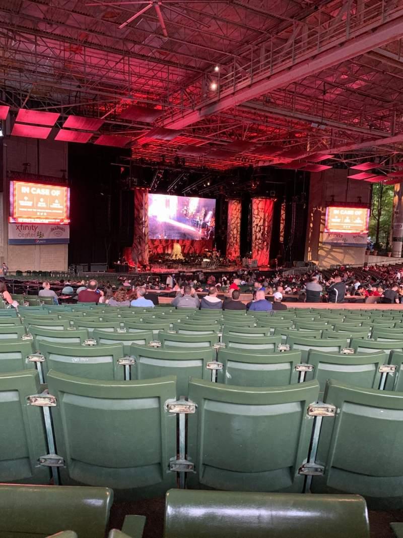 Vista sentada para Xfinity Center Secção 7 Fila S Lugar 34