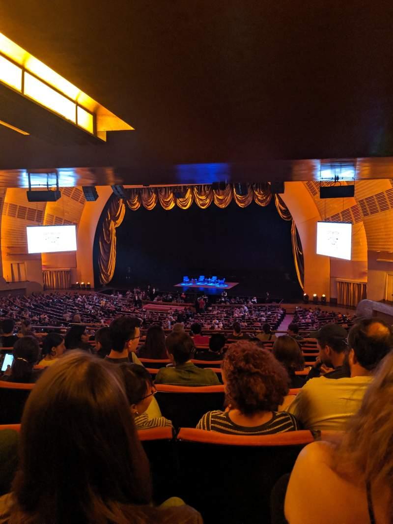 Vista sentada para Radio City Music Hall Secção 1ST Mezzanine 2 Fila K Lugar 204